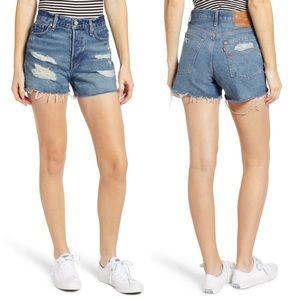 NWT Levi's Wedgie High-waist Cutoff Shorts - 29